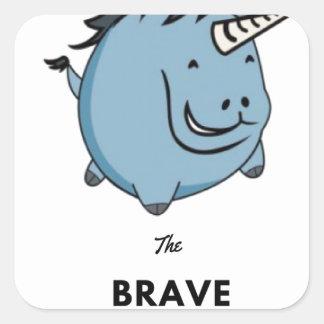 Brave Unicorn Square Sticker