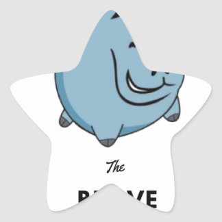 Brave Unicorn Star Sticker