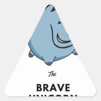 Brave Unicorn Triangle Sticker