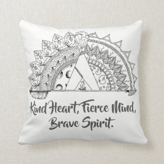 Brave Vibes Throw Pillow