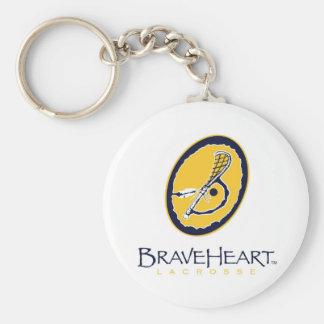 BraveHeartLogo Basic Round Button Keychain