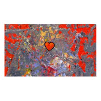 Bravery courage facing fears bold modern heart art business card