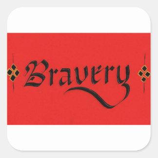 Bravery Square Sticker