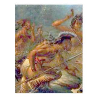 braves in battle postcard