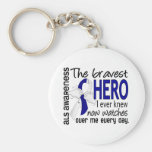 Bravest Hero I Ever Knew ALS Key Chain