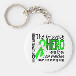 Bravest Hero I Ever Knew Non-Hodgkin's Lymphoma Keychain