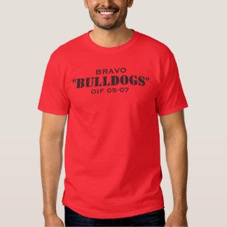 """BRAVO, """"BULLDOGS"""", OIF 05-07 TEE SHIRTS"""