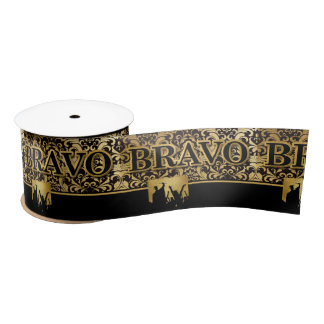 BRAVO Graduate in Elegant Gold and Black Satin Ribbon