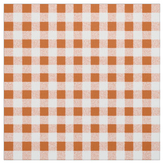 brawn gingham check fabric