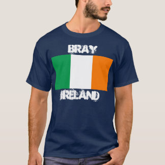 Bray, Ireland with Irish flag T-Shirt