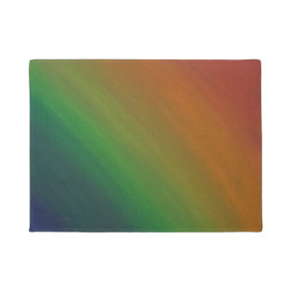 Brazen Abstract Colourful Rainbow Pride Flag Doormat