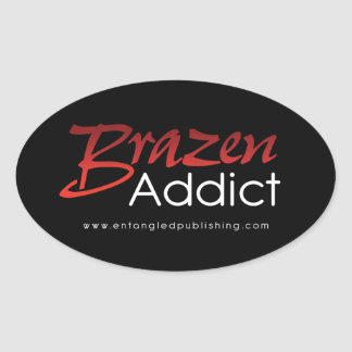 Brazen Addict sticker - BLACK