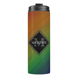 Brazen Bar | Colorful Ombre Rainbow Abstract | Thermal Tumbler