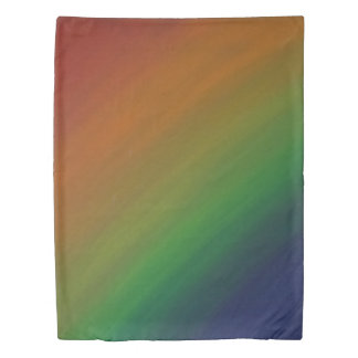 Brazen Bed | Ombre Rainbow Abstract Pride Flag | Duvet Cover
