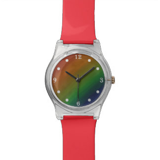 Brazen Bling | Colorful Ombre Rainbow Pride Flag Watch