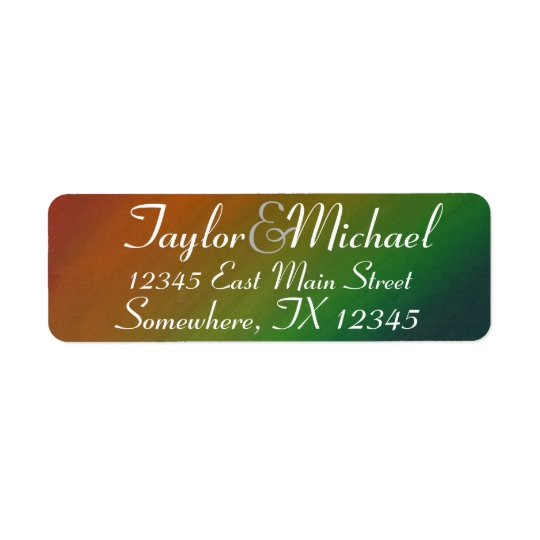 Brazen Party | Monogram Ombre Rainbow Pride Return Address Label