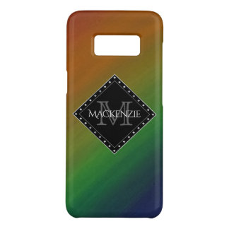Brazen Stylish Monogram Colourful Rainbow Ombre Case-Mate Samsung Galaxy S8 Case