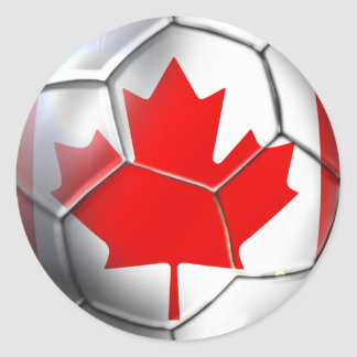 Brazil 2014 World Cup Soccer - Les Rouges Classic Round Sticker
