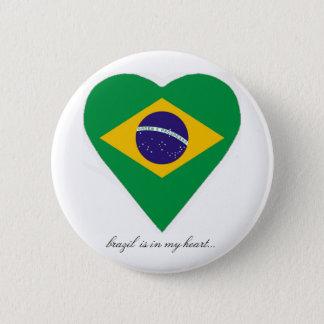 BRAZIL 2 INCH ROUND BUTTON