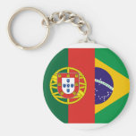 Brazil And Portugal, hybrids Keychain