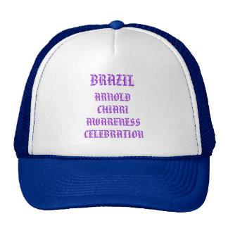 BRAZIL  ARNOLD CHIARI AWARENESS CELEBRATION TRUCKER HAT