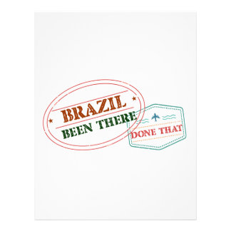 Brazil Been There Done That Customized Letterhead