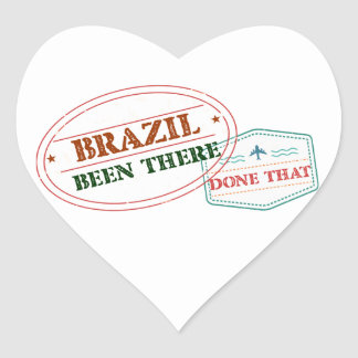 Brazil Been There Done That Heart Sticker