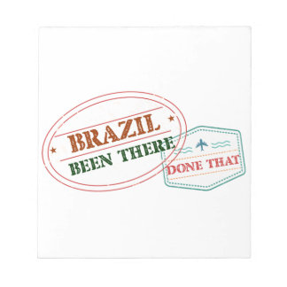 Brazil Been There Done That Notepad