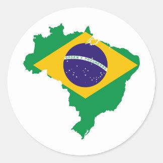 Brazil BR Classic Round Sticker