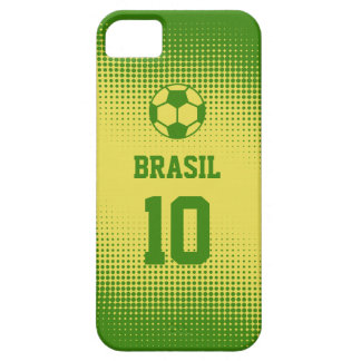 Brazil Brasil Football with Custom Text Number iPhone 5 Case