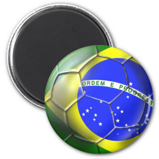 Brazil Brasil Samba football Brazilian flag ball Magnet