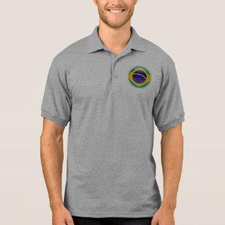 Brazil Bubble Flag Polo Shirt