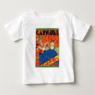 Brazil Carnival 1933 Vintage World Travel Poster Baby T-Shirt