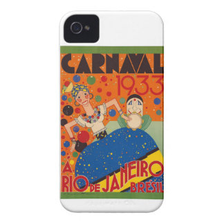 Brazil Carnival 1933 Vintage World Travel Poster Case-Mate iPhone 4 Case