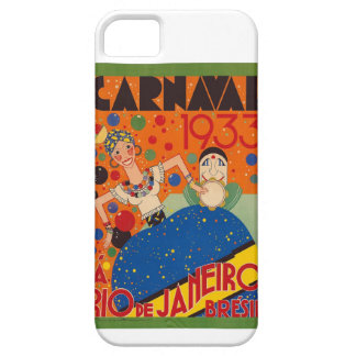 Brazil Carnival 1933 Vintage World Travel Poster iPhone 5 Cover
