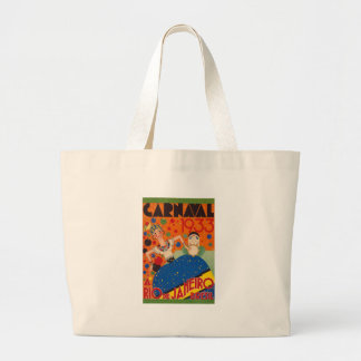 Brazil Carnival 1933 Vintage World Travel Poster Large Tote Bag