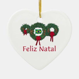 Brazil Christmas 2 Ceramic Ornament