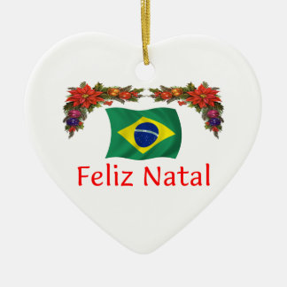 Brazil Christmas Ceramic Ornament
