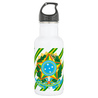 Brazil coat arms 532 ml water bottle