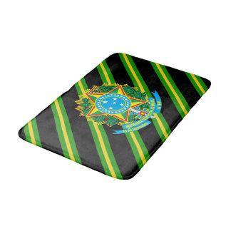 Brazil coat arms bath mat