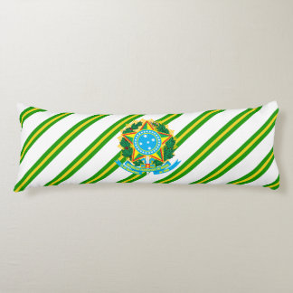 Brazil coat arms body pillow