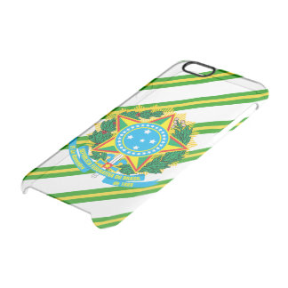 Brazil coat arms clear iPhone 6/6S case