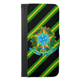 Brazil coat arms iPhone 6/6s plus wallet case