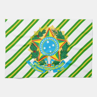 Brazil coat arms kitchen towel