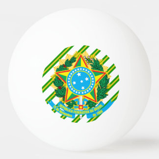 Brazil coat arms ping pong ball