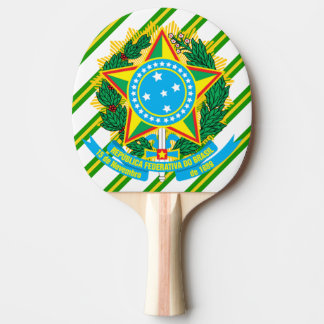 Brazil coat arms ping pong paddle