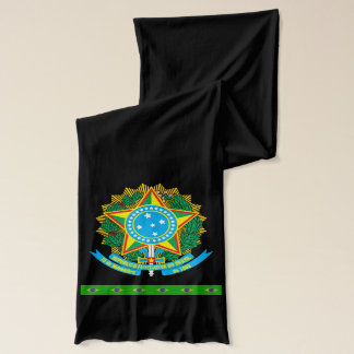 Brazil coat arms scarf