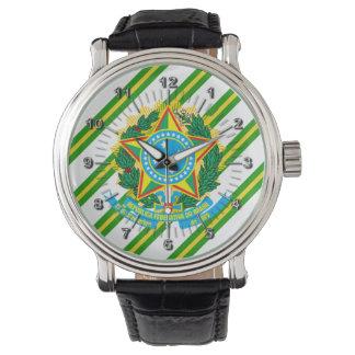 Brazil coat arms watch