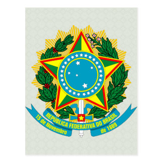 Brazil Coat of Arms detail Post Card