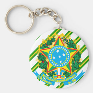 Brazil coat of arms keychain